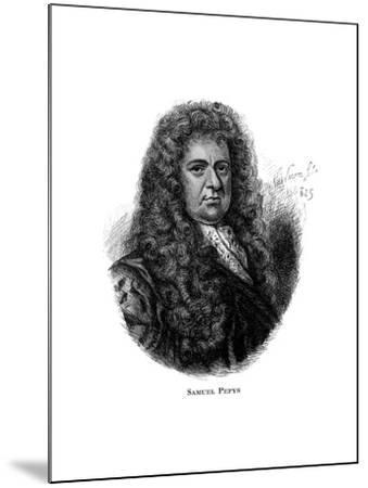 Samuel Pepys, English Diarist--Mounted Giclee Print