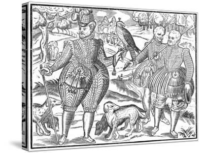 A Falconer, 1611--Stretched Canvas Print