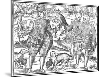 A Falconer, 1611--Mounted Giclee Print