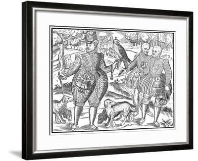 A Falconer, 1611--Framed Giclee Print