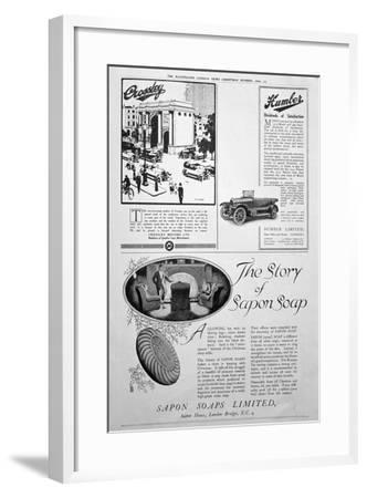 An Advertising Page in the Illustrated London News, Christmas Number, 1920--Framed Giclee Print