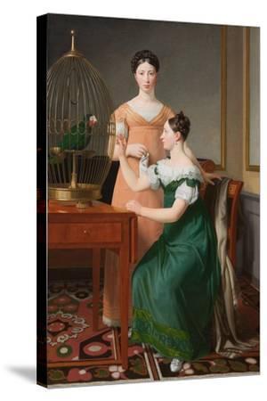 Mendel Levin Nathanson's Elder Daughters, Bella and Hanna, 1820-Christoffer-wilhelm Eckersberg-Stretched Canvas Print