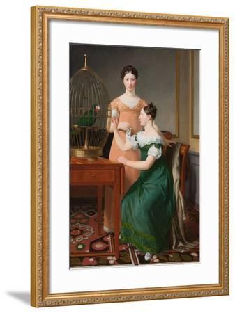 Mendel Levin Nathanson's Elder Daughters, Bella and Hanna, 1820-Christoffer-wilhelm Eckersberg-Framed Giclee Print