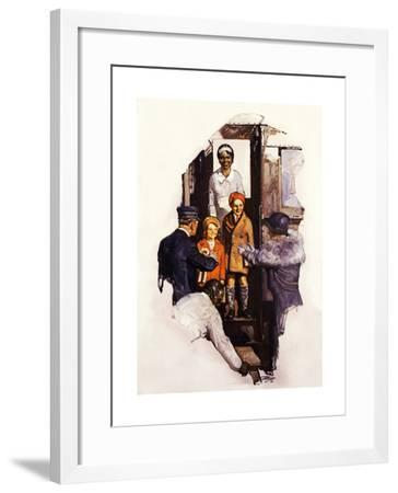 Arriving at the Station-Dan Content-Framed Giclee Print