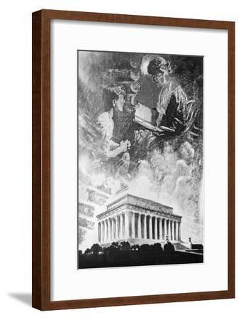 Reading at Night--Framed Giclee Print