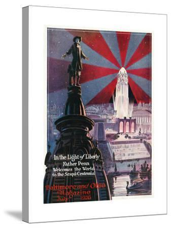 In the Light of Liberty 1926-Charles H. Dickson-Stretched Canvas Print