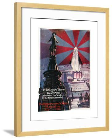 In the Light of Liberty 1926-Charles H. Dickson-Framed Giclee Print
