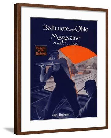 The Trackman-Charles H. Dickson-Framed Giclee Print