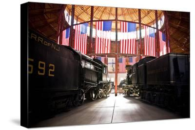 Inside the Historic Roundhouse-Amanda Barrett-Stretched Canvas Print