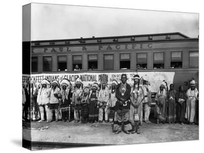 The Blackfeet Indians from Glacier National Park--Stretched Canvas Print