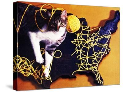 Chessie, Map Out the Tracks!--Stretched Canvas Print