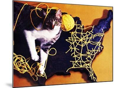 Chessie, Map Out the Tracks!--Mounted Giclee Print