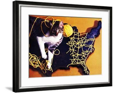 Chessie, Map Out the Tracks!--Framed Giclee Print