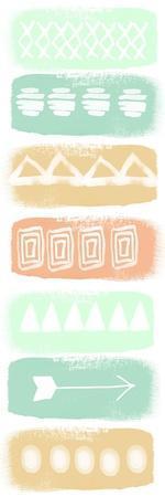 Pattern Stripe 2-Linda Woods-Stretched Canvas Print