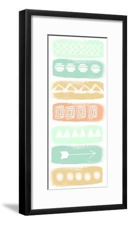 Pattern Stripe 2-Linda Woods-Framed Art Print
