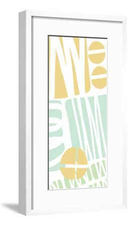 Multi Shapes II-Linda Woods-Framed Art Print