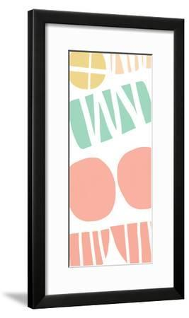 Multi Shapes III-Linda Woods-Framed Art Print
