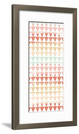 Triangle Multi-Linda Woods-Framed Art Print