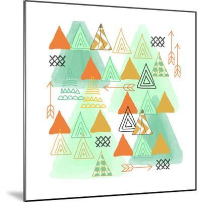 Triangles-Linda Woods-Mounted Art Print