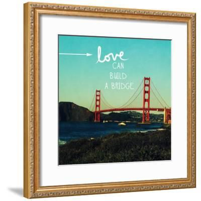 Love Honor Cherish-Linda Woods-Framed Art Print
