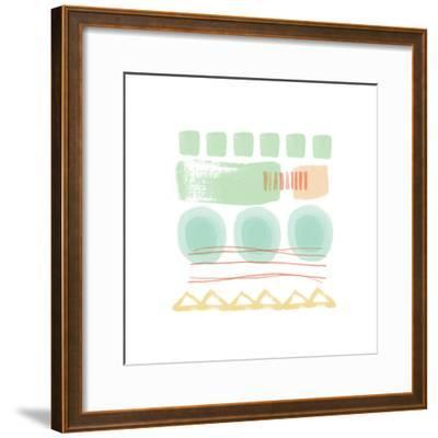 Mixed Pattern II-Linda Woods-Framed Art Print