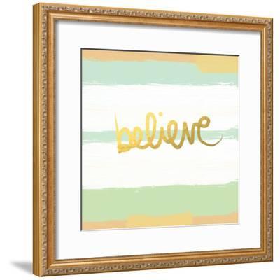 Believe Gold-Linda Woods-Framed Premium Giclee Print