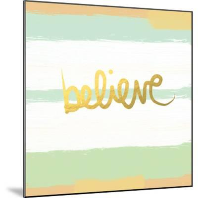 Believe Gold-Linda Woods-Mounted Premium Giclee Print