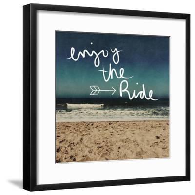 Enjoy the Ride-Linda Woods-Framed Premium Giclee Print