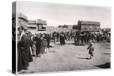 The Bazaar Square in Basra, Iraq, 1925-A Kerim-Stretched Canvas Print