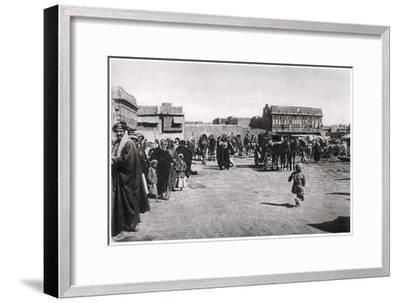 The Bazaar Square in Basra, Iraq, 1925-A Kerim-Framed Giclee Print