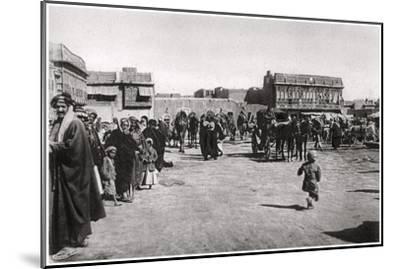 The Bazaar Square in Basra, Iraq, 1925-A Kerim-Mounted Giclee Print