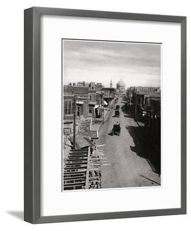 A Street in Baghdad, Iraq, 1925-A Kerim-Framed Giclee Print