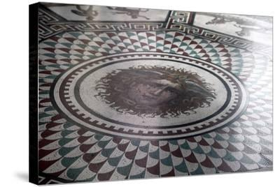 Floor Mosaic in the Pavilion Hall, State Hermitage Museum, St Petersburg, Russia, 1847-1851-Andrei Ivanovich Stakenschneider-Stretched Canvas Print