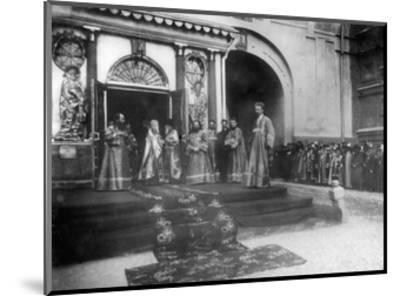 Religious Representatives Awaiting the Imperial Family at the Iveron Chapel, Moscow, Russia, 1898-Alexander Alexandrovich Nasvetevich-Mounted Giclee Print