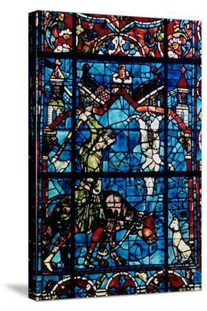 The Butchers, Stained Glass, Chartres Cathedral, France, 1194-1260--Stretched Canvas Print