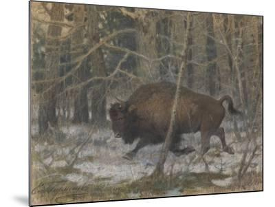 The Wood Bison-Evgeny Alexandrovich Tichmenev-Mounted Giclee Print