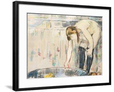 Femme Au Tub-Edouard Manet-Framed Giclee Print