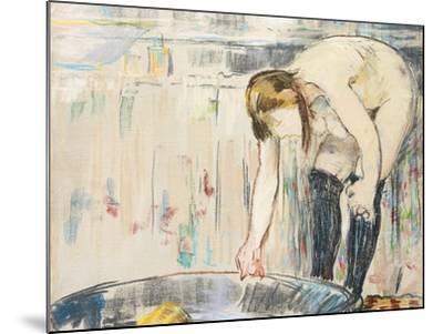 Femme Au Tub-Edouard Manet-Mounted Giclee Print
