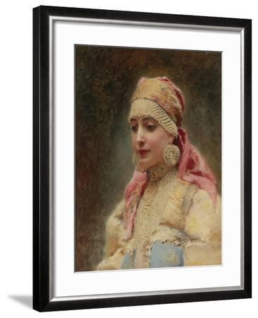 Boyar's Wife-Konstantin Yegorovich Makovsky-Framed Giclee Print