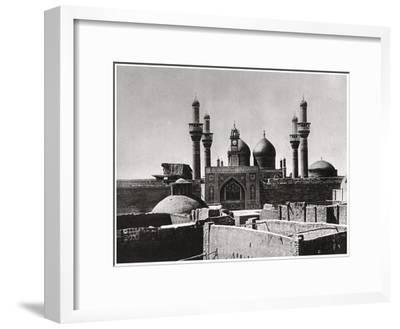The Golden Domes and Minarets of the Al-Kadhimiya Mosque, Baghdad, Iraq, 1925-A Kerim-Framed Giclee Print
