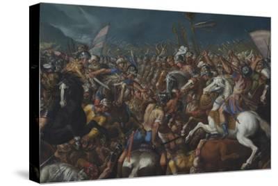 The Fight Between Scipio Africanus and Hannibal, C. 1616-1618-Bernardino Cesari-Stretched Canvas Print