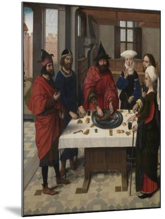 The Last Supper Altarpiece: Passover Seder (Left Wing), 1464-1468-Dirk Bouts-Mounted Giclee Print