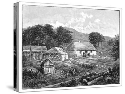 Highland Cottages in Lochaber, Scotland, 1900--Stretched Canvas Print