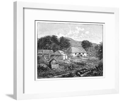 Highland Cottages in Lochaber, Scotland, 1900--Framed Giclee Print
