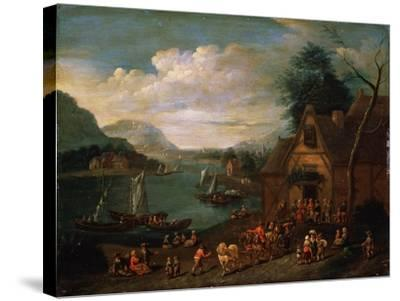 A Tavern at the Seashore, C16th-C18th Century--Stretched Canvas Print