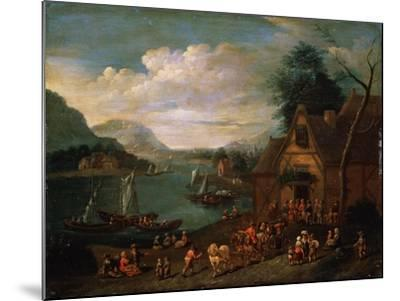 A Tavern at the Seashore, C16th-C18th Century--Mounted Giclee Print