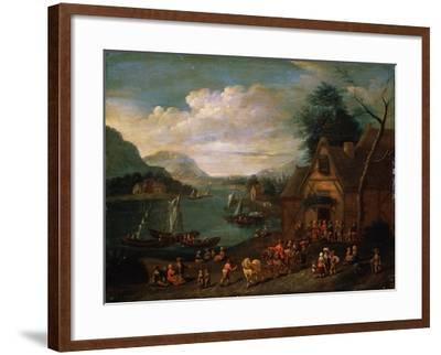 A Tavern at the Seashore, C16th-C18th Century--Framed Giclee Print