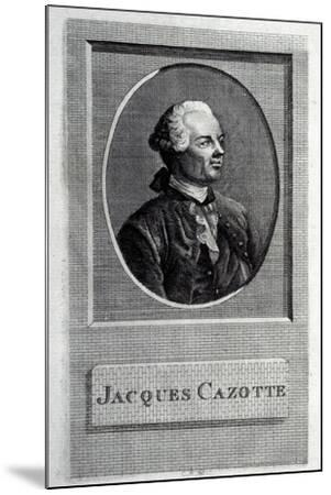 Portrait of the Author Jacques Cazotte (1720-179)--Mounted Giclee Print