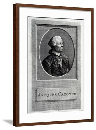Portrait of the Author Jacques Cazotte (1720-179)--Framed Giclee Print