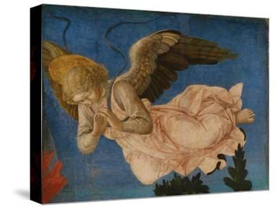 Angel (Panel of the Pistoia Santa Trinità Altarpiec), 1455-1460-Francesco Di Stefano Pesellino-Stretched Canvas Print